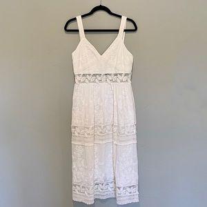 NWT Chelsea& Violet White Dress Tea Length Pockets